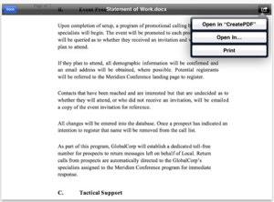 Captura de Create PDF